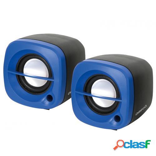 Altavoces omega pc 2.0 og-15 6w usb azul