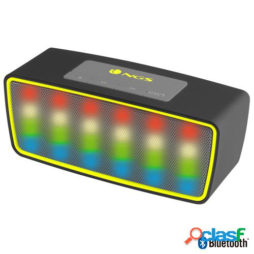Altavoz bluetooth ngs roller glow black c/ micro, usb,
