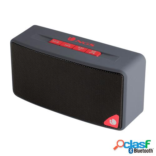 Altavoz bluetooth ngs roller gray radio, usb, sd