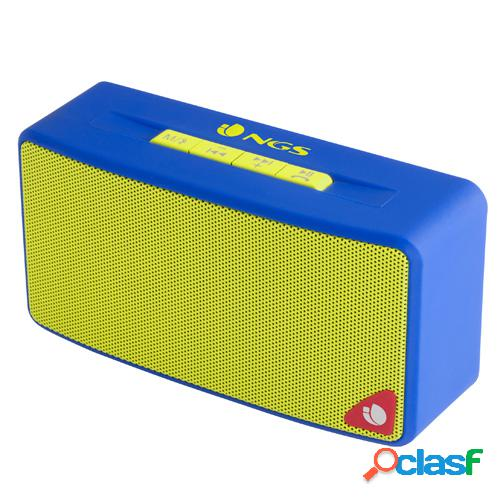 Altavoz bluetooth ngs roller joy blue radio, usb, sd