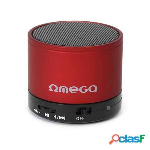 Altavoz bluetooth omega og47r v3 aluminio rojo radio/sd/aux