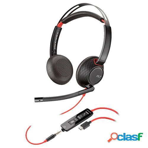 Auricular plantronics blackwire 5220 usb type c jack 3.5mm