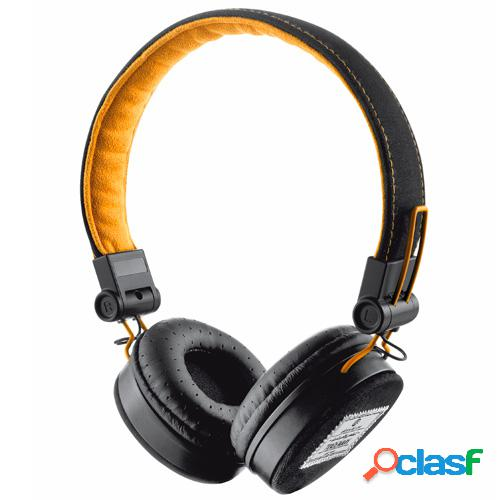 Auriculares diadema trust fyber black/orange