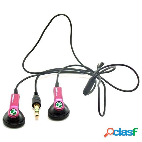 Auriculares estereo sony ericsson hpm-64d pink con adaptador