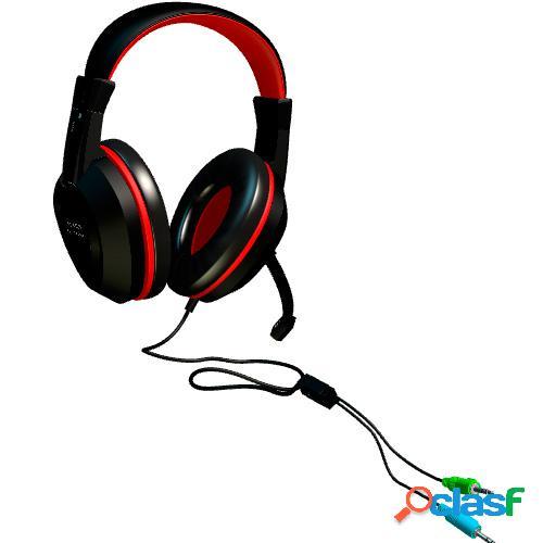 Auriculares gaming c/micro tacens mah0+ mars gaming
