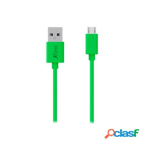 Cable usb a micro usb plano verde cpm1000gr