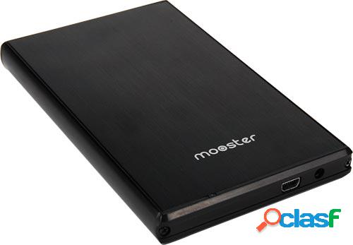 "Caja disco duro mooster 2.5"" sata usb 3.0 / usb 2.0 aluminio"
