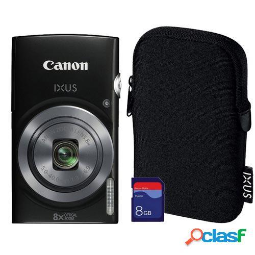 Camara digital canon ixus 160 negra 0135c009 value-up kit