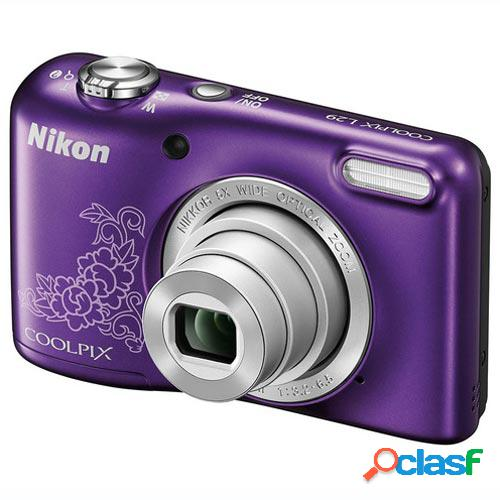 Camara digital nikon l29 purpura + estuche 16,1 mpx