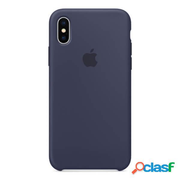 Funda de silicona azul para iphone x