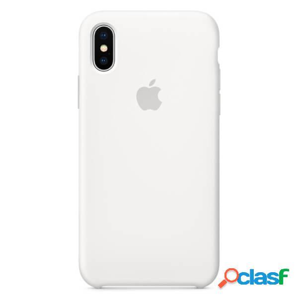 Funda de silicona blanca para iphone x