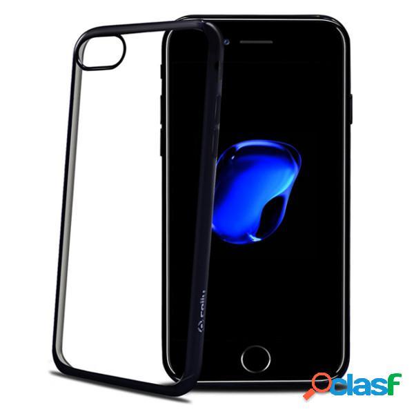 Funda de silicona para iphone 7 negra transparente