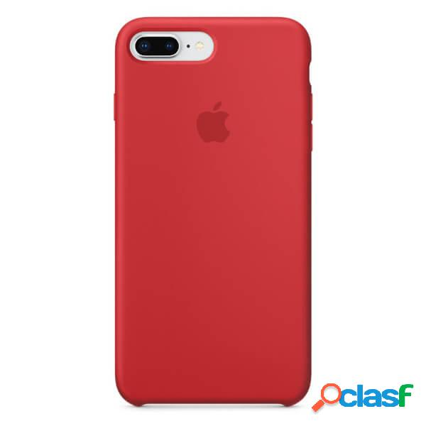 Funda de silicona roja para iphone 8 plus / 7 plus