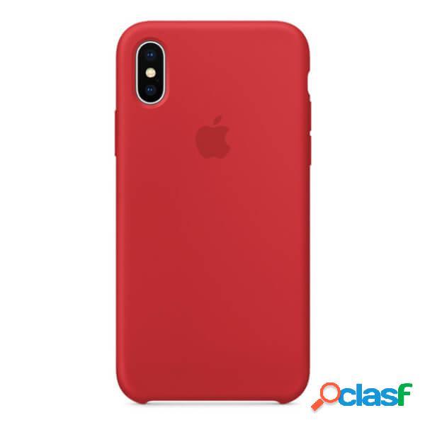 Funda de silicona roja para iphone x