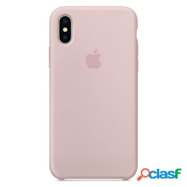 Funda de silicona rosa para iphone x