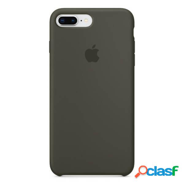 Funda de silicona verde para iphone 8 plus / 7 plus