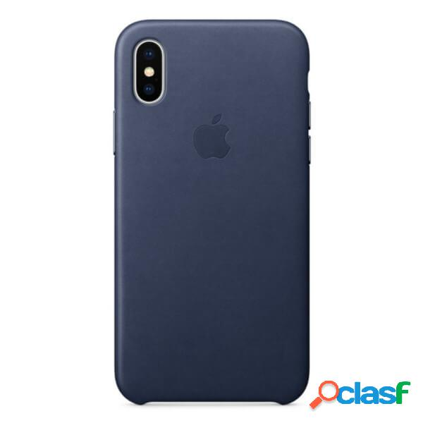 Funda leather case azul para iphone x