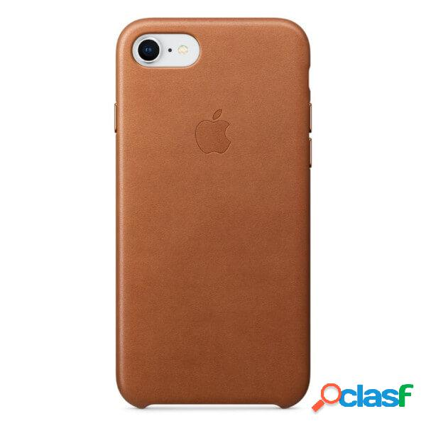 Funda leather case marron para iphone 8 / 7