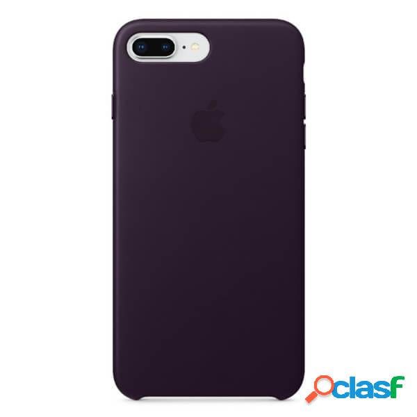 Funda leather case morada para iphone 8 plus / 7 plus