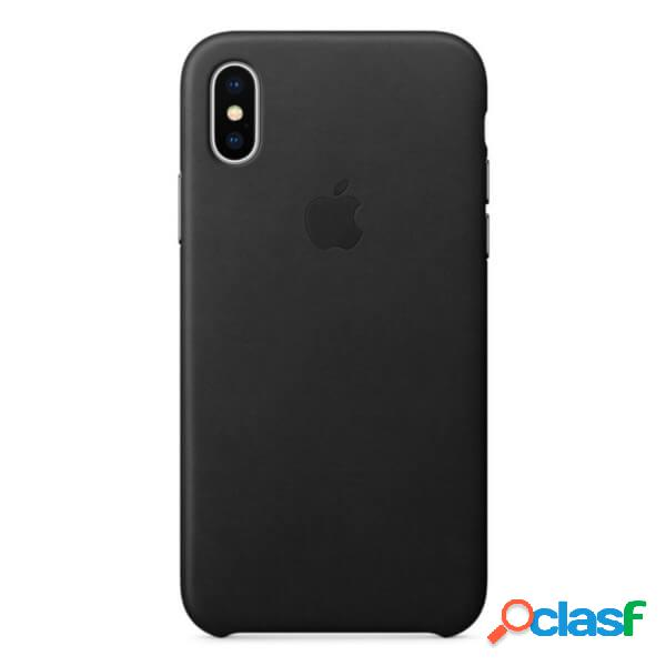Funda leather case negra para iphone x