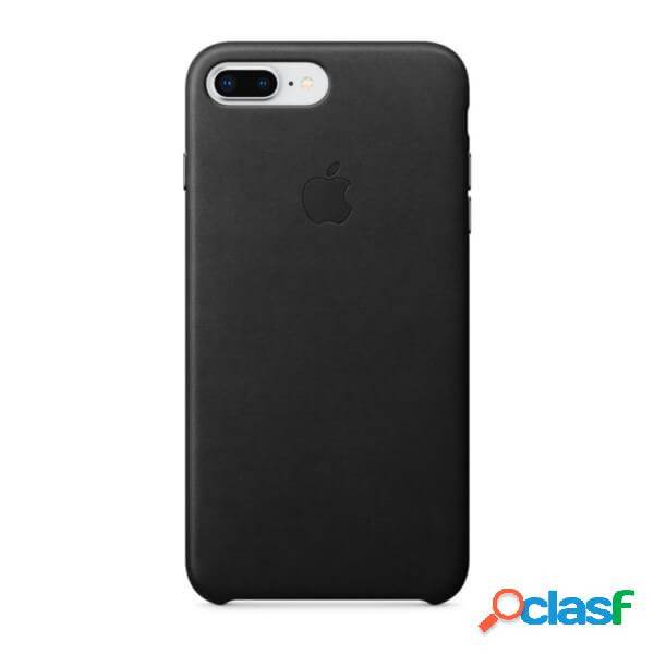Funda leather case para iphone 8 plus / 7 plus negro