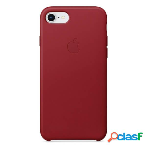Funda leather case roja para iphone 8 / 7