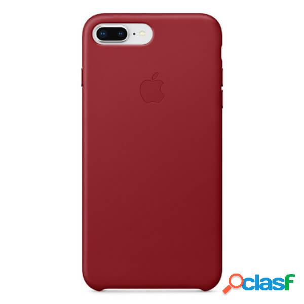 Funda leather case roja para iphone 8 plus / 7 plus