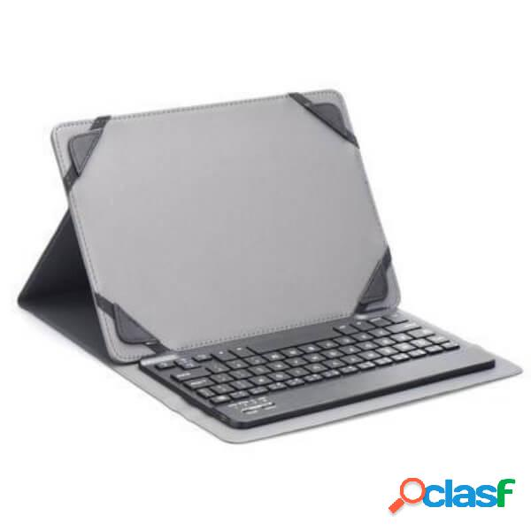 """Funda universal con teclado bluetooth negra para tablet 10"""""""