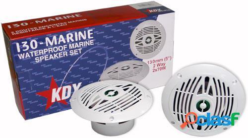 """Kit altavoces marinos 130 marine 5"""" 2 vias 70 w, nautica."""