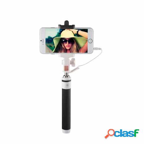 Palo selfie havit hv m811 negro con disparador y cable jack