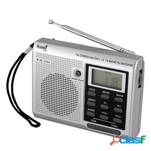 Radio sami rs 2964 digital, fm, am, sw, auriculares