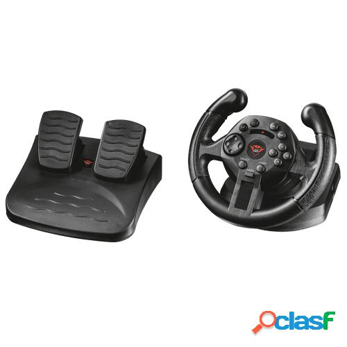 Volante + pedales trust 21684 gxt570, para pc y ps3 compact