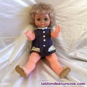 Muñeca antigua años 60 vipevi o alfonso 58 cm reparar