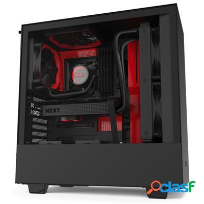 Nzxt Caja SemiTorre H510 Negro/Rojo Mate, original de la