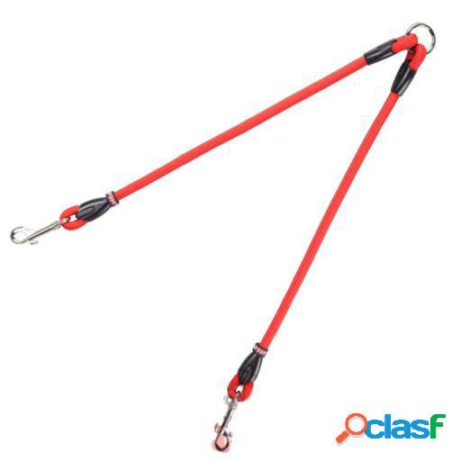 Arppe Acople Dos Perros Cordon Rojo y Negro Rojo