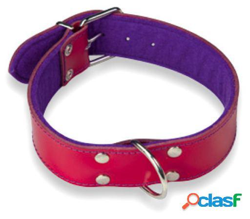 Arppe Collar Cuero Superfelt Color Granate / Púrpura