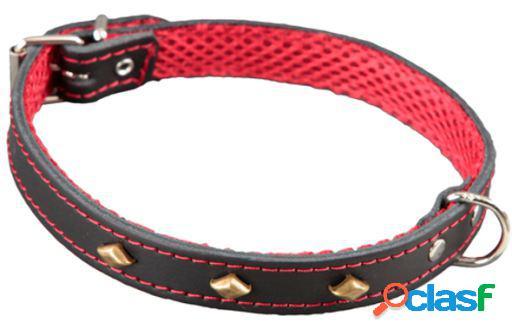 Arppe collar fornitura cuero forro 3D amazone Negro/Rojo