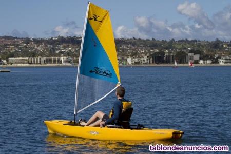 Kit de vela y enrollador para kayak hobie