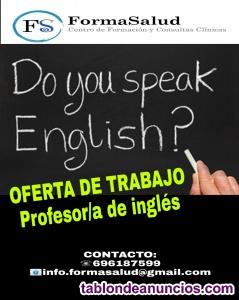 Oferta de trabajo. Profesor de inglés