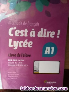 Venta de 2 libros de texto del instituto frances curso j1s