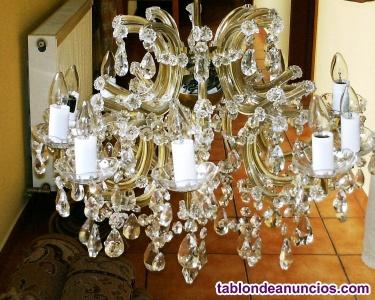 Lampara stil maria tereza, cristal original bohemia