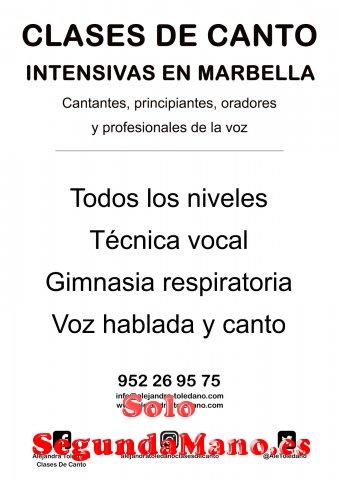 Clases de canto intensivas en Marbella