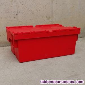 Caja apilable plástico 60x44cm