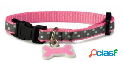 Arquivet Collar Perro Reflectante Rosa 22 cm
