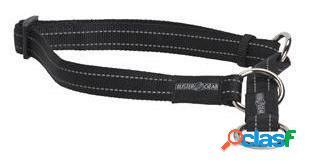 Kruuse Collar medio Buster Reflectante Negro 20 x 400-550 mm