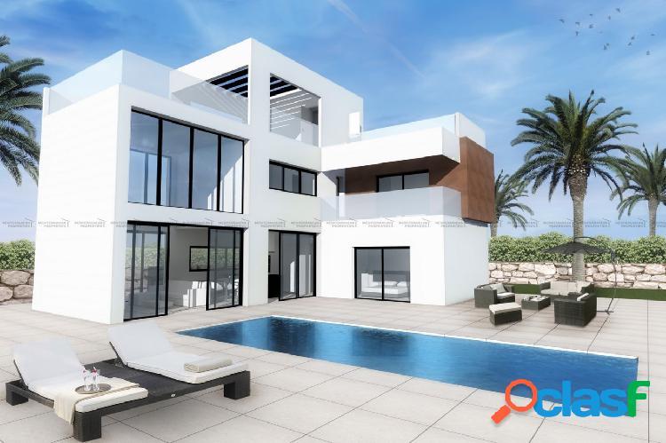 Nuevas villas con terraza solárium y vistas en Finestrat