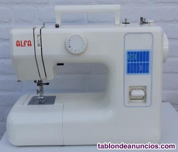 Máquina de coser compacta alfa con brazo libre.