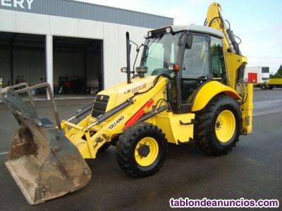 Retro excavadora mixta new holland lb 110 b.