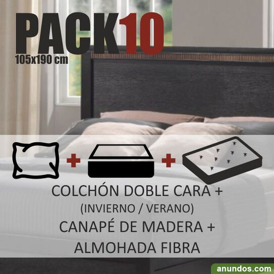 Pack nº x190cm colchón canapé almohada - nuevo -