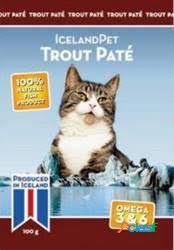 Iceland Pet Comida Humeda para Gatos Cat Trout Paté 24x100